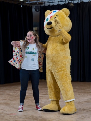 Pudsey Bear comes to visit