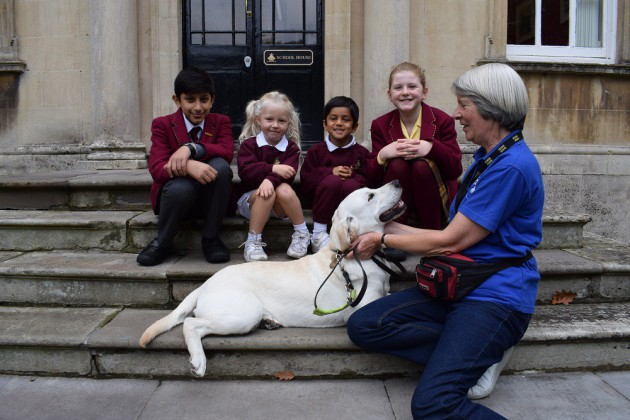 A very special visit from our sponsored guide dog, Mitre