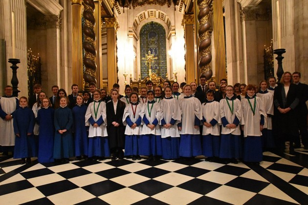 Girl Choristers & Chapel Choir sing Evensong at St Paul's Cathedral