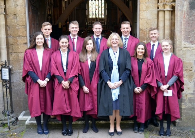 Student Leaders dedicated in Llandaff Cathedral