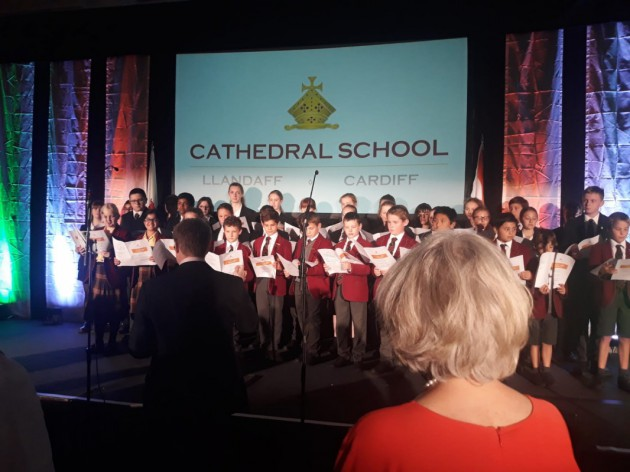 Choristers perform at 150th anniversary Gandhi event